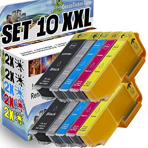 Spetan 10 Druckerpatronen Komp. für Epson 33XL 33 für Epson Expression Premium XP-540 XP-830 XP-900 XP-645 XP-530 XP-630 XP-640 XP-635 XP-7100, T3351 - T3364 2x (Schwarz/Foto-schwarz/Blau/Rot/Gelb)