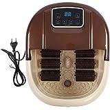 Bain de Pieds Appareil de Massage, 220V Bain de Thalasso pour Pieds Appareil de Massage SPA Chaufant Vibrant avec des Bulles 6 Groupes de Rouleaux LCD Affichage Digital
