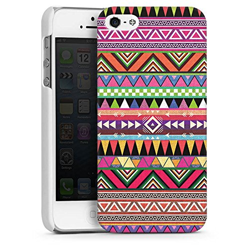 Apple iPhone 5 Housse Outdoor Étui militaire Coque Tribal couleurs Motif CasDur blanc