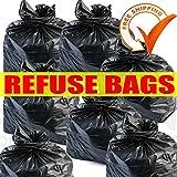 Sacchi della spazzatura neri resistenti, realizzati in materiale riciclato nel Regno Unito; 2 confezioni da 20 sacchi ciascuna