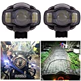 #5: Andride Universal Pair Motorcycle 20W 2000LM LED Spot Light Driving Fog Lamp Auxiliary Light USB Port Phone Charger (2)