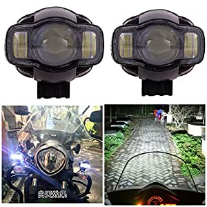 Andride Universal Pair Motorcycle 20W 2000LM LED Spot Light Driving Fog Lamp Auxiliary Light USB Port Phone Charger (2)