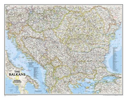 National Geographic: The Balkans Classic Wall Map - Laminated (30.25 X 23.5 Inches)