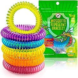 The Body Source Bracelets Anti-Moustiques Naturel - Lot de 10 - pour Adultes et Enfants - Huiles essentielles - Ne Contient Pas de DEET. Résiste à l'eau