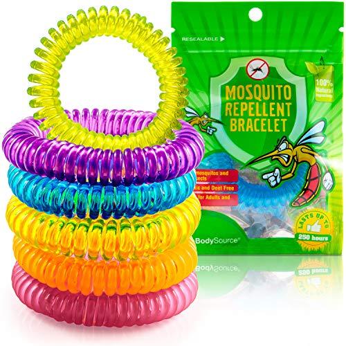 Anti-Moskito-Armbänder für Kinder und Erwachsene, mit Zitronella, Zitronengras und Geraniol, DEET-frei und wasserfest, 10Stück