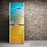 Wall Stickers DIY Abnehmbare Selbstklebende 3D Kühlschrank Türaufkleber Schlafzimmer Wohnzimmer Tür Wand Kühlschrank Aufkleber Wand Tapete,60 * 150Cm