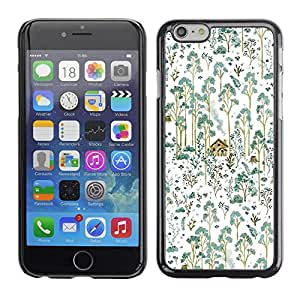 Omega Covers - Snap on Hard Back Case Cover Shell FOR Apple Iphone 6 Plus / 6S Plus ( 5.5 ) - Teal Forest Painting House Home Nature