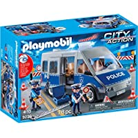 Playmobil 9236 City Action Policemen with Van, Flashing Lights and Sound - Multi-colour