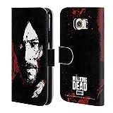 Head Case Designs Offizielle AMC The Walking Dead Blut Bad Daryl Blut Brieftasche Handyhülle aus Leder für Samsung Galaxy S6