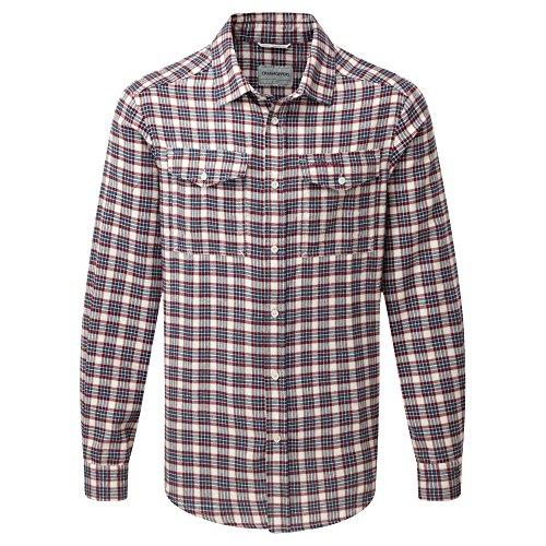 Craghoppers Herren Kiwi Check shirt-black Pfeffer, mittel Black Pepper