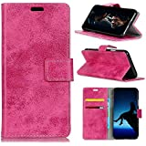 Danallc HTC U12 Life Case, HTC U12 Life Wallet Case, Shell Premium Slim Leather Wallet Back Case With Credit Card ID Holder Protective Case Compatible With HTC U12 Life,Rosy
