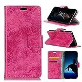 Fusutonus Huawei Honor View 20 Hülle Leder, Tasche Leder Flip Case, Brieftasche Etui Schutzhülle Handyhülle für Honor View 20,Rosy