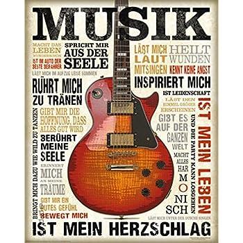 Amazon.de: REINDERS Musik ist Leidenschaft - Wandbild 60 x