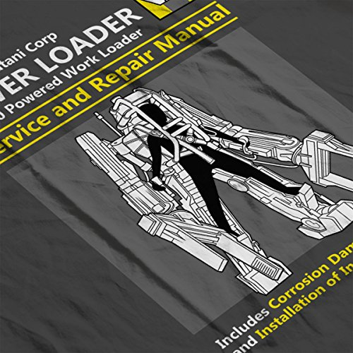 Aliens Power Loader Service And Repair Manual Women's T-Shirt Charcoal