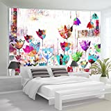 murando – Papier peint intissé – 350x256 cm – Trompe l oeil - Tableaux muraux – Déco – XXL abstraction 10110901-10