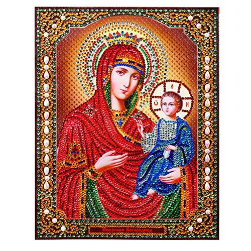 Diamond Painting Religion, DIY 5D Special Shaped Stickerei, Tiermalerei, Mosaik-Muster, Bilder Kristall-Strasssteine Needle Arts, 22 x 28 cm