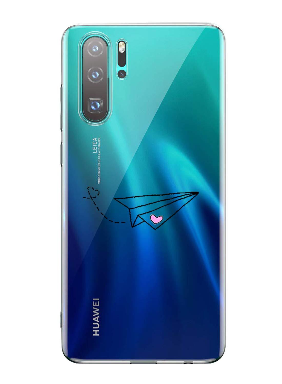 Oihxse Transparente Silicona Case Compatible con Huawei Enjoy 8 Plus/Y9 2018 Funda Suave TPU Protección Carcasa Moda… 1