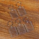 GAOHOU®Hi-elec 5X klar Acryl leere Foto Picture Frame Schlüsselanhänger Keychain