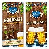 40 x Hochzeitseinladungen Einladungskarten individuell mit echtem Abriss - O'zapft is! in Blau