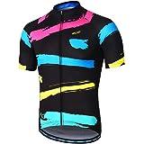 ARSUXEO Heren fietsshirt MTB korte mouwen tricot bike top met zakken met ritssluiting reflecterend Z84