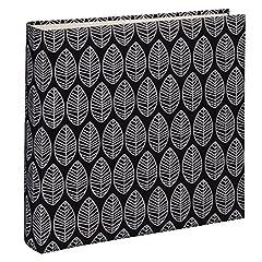 Idea Regalo - Hama La Fleur Album portafoto, Cartone, Schwarz (Weiße Seiten), 30x30