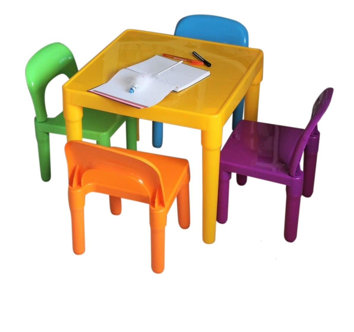 Tavoli E Sedie In Plastica Per Bambini.Home Hut Set Grande Tavolo E Sedia In Plastica Per Bambini Idea