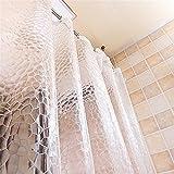 GUANSIJIE® Duschvorhang 3D Wasserwürfel Wasserdicht Schimmelresistent Umweltschutz Transparent Verdickung 100% EVA Badezimmer Trennvorhang Vorhänge (31 * 71-Zoll) , 280*200cm