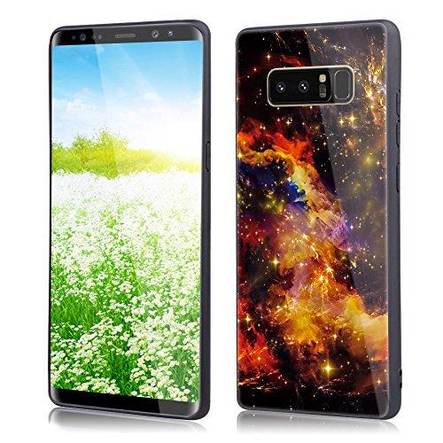 Huphant Compatible for Galaxy Note 8 Hülle, Galaxy Note 8 Glas Hülle, Hülle Mirror Case Original Starry Sky Hülle Anti-Rutsch Hülle Antislip Case für Samsung Galaxy Note 8(6,3 Zoll) - Gelb