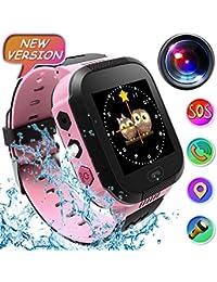 Reloj Inteligente Smartwatch para niños, rastreador de ubicación GPRS + LBS, Reloj del teléfono, Reloj de cámara,…