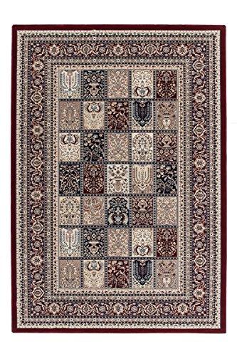 Beige Persische Wolle Teppich (Lalee 347254477 Sehr Hochwertiger, orientalischer Teppich im Felder Design in bester Qualität, 160 x 230 cm, rot)