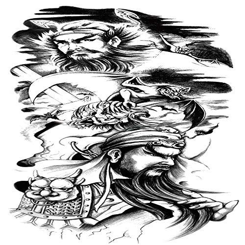adgkitb Wasserdichter Full Arm Tattoo Aufkleber Full Arm Tattoo 9 48x17cm