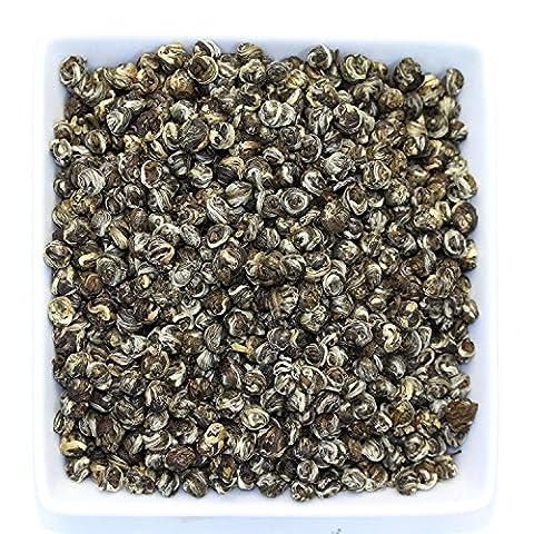 Tealyra - Superfine Jasmine Dragon Pearls - Best Chinese Jasmine Loose Green Tea Leaf - Organically Produced - Pleasant Aroma and Tonic Effect - 200g