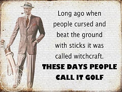 Let's Call IT Golf: Funny rétro vintage plaque en métal Home Decor Cadeau idéal