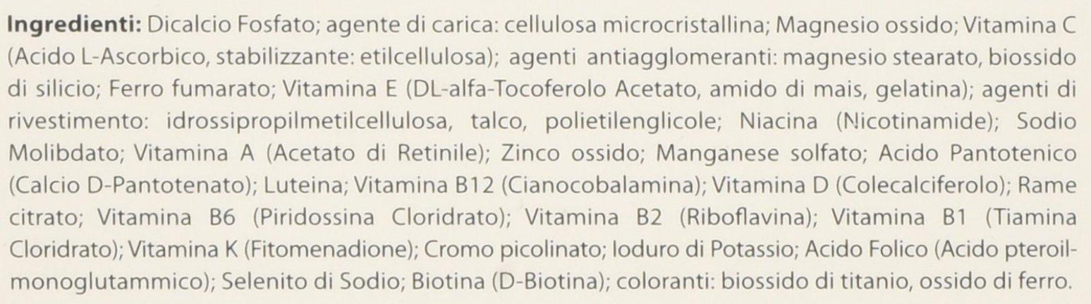 Matt Divisione Pharma Vitamine e Minerali Complex, Integratore Multivitaminico e Multiminerale - 60 Compresse, 79.8 g 3 spesavip