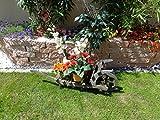 BLACK Offene Holz-Schubkarre, Gartendeko Karre zum Bepflanzen, Blumentöpfe, Pflanzkübel, Pflanzkasten, Blumenkasten, Pflanzhilfe, Pflanzcontainer, Pflanztröge, Pflanzschale, Schubkarren 100 cm mit Holz - Deko HSOF-100-SCHWARZ Blumentopf, Holz, groß schwarz anthrazit dunkel grau lasiert Pflanzgefäß, Pflanztöpfe Pflanzkübel Aussen- und Innenbereich