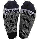 calzini di birra se riesci a leggere questo, portami una birra calze da donna per uomo, calze divertenti ricamate con lettere