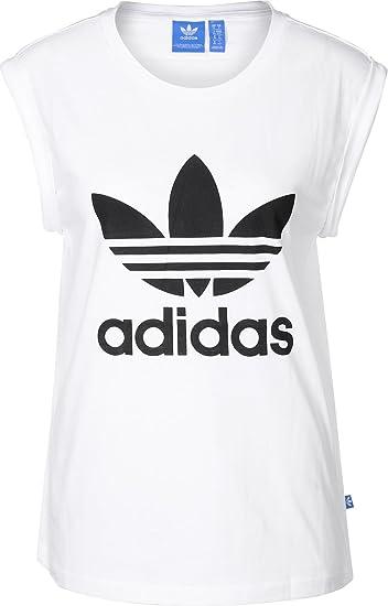 adidas damen t-shirt boyfriend trefoil