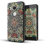 Nexus 5x Funda,Lizimandu 3D Patrón Protectiva Carcasa de Silicona Gel TPU estrecha Case Cover Para nexus 5x(Mystic compass)