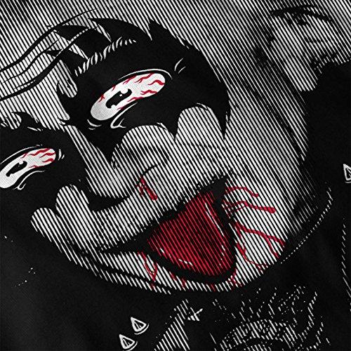 Albert Einstein Kuss Rock Damen Schwarz S-2XL Muskelshirt   Wellcoda Schwarz