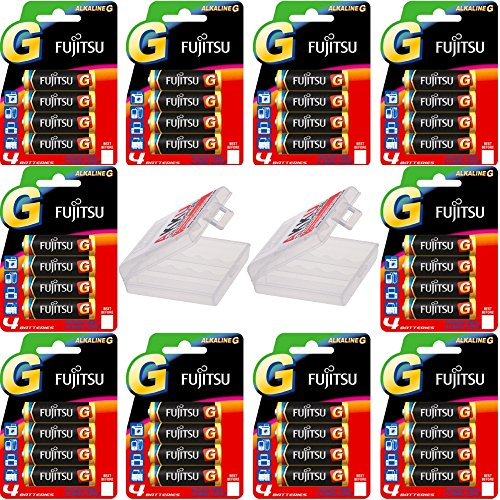 kraftmax 40er Bonuspack Set Mignon AA Batterien (40 Stück) + 2X Batterieboxen für insgesamt 8 Batterien