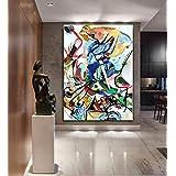 Impression sur toile abstraite Wassily Kandinsky géométrique graffiti sur toile pour décoration murale de salon