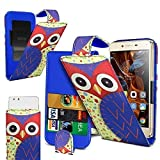 N4U Online® Owl Printed Clip On PU Leather Flip Case Cover