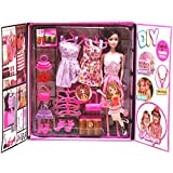 Webby DIY Beautyful Doll Fashion & Accessories (Multicolor)