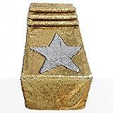 Icosy Mermaid oro argento paillettes runner glitter e paillettes raso tovaglia per feste matrimonio compleanno, Gold/Silver&flat Head, 30cmx152cm