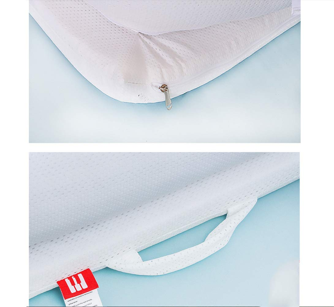 LNDD-Bionic Uterine Bed Baby Lounger 2 in 1 Sleeping Nest Pods Travel Bumpers Cradle Mattresses Suitable for Newborn Children Aged 0-1,White LNDD ★BABY COT: refreshing breathable, stretch fabric, fence protection, bionic design ★REMOVABLE: The jacket has a zipper design, and the refreshing installation is more worry-free. ★SIZE: length 99cm * width 55cm * height 15cm (suitable for 0-1 pairs of babies). 3