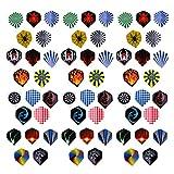 #5: Nf&E 60 Pieces (3 Sets) Standard Dart Flights Professional Durable Pet Plastic Darts Flights