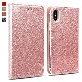 Coque iPhone XS Max,OKZone Luxe Bling en Cuir PU Housse à Rabat Portefeuille Coque...
