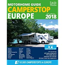 Motorhome guide Camperstop Europe 27 countr. 2018 GPS