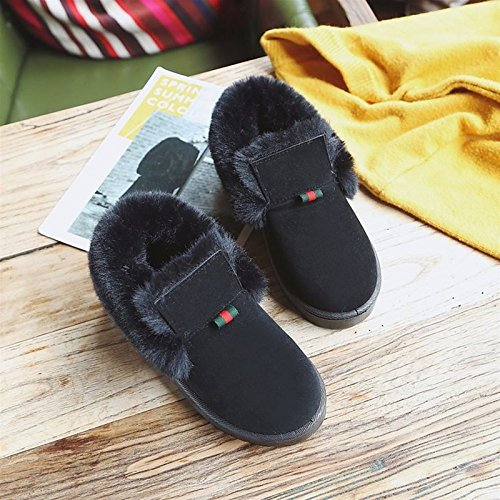 HSXZ Scarpe donna pu Autunno Inverno Comfort Snow Boots stivali tacco piatto punta tonda per Casual verde grigio nero Gray