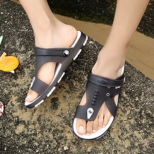 Xing Lin Beach Flip Flop Estate Tendenza Scarpe Uomo Scarpe Da Spiaggia Foro Pantofole Uomini Flip-Flops Uomini Sandali Antiscivolo Di Marea black